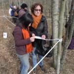 Los participantes del taller de aromas identifican olores y el propio espacio.