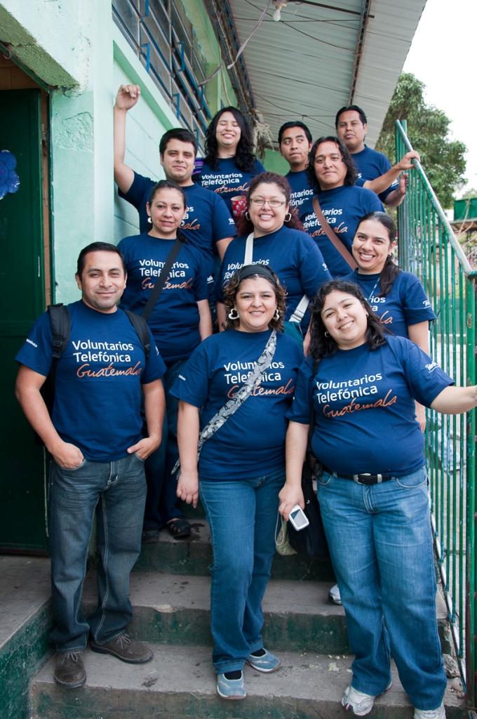 El grupo de Voluntarios Telefónica que participo en esta actividad.