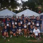 Los participantes en la carrera recorrieron una distancia de cinco kilómetros.