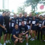 El día 26 del pasado mes de abril, alrededor de 40 voluntarios de Telefónica participaron en la edición 2012 de   la Mercedes-Benz Corporate Run