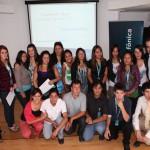 18 Jóvenes Fundación Telefónica reciben en Chile becas académicas para el curso 2012