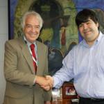 Alejandro Vassilaqui, director ejecutivo de CEDRO y Mario Coronado, director de Fundación Telefónica en Perú.