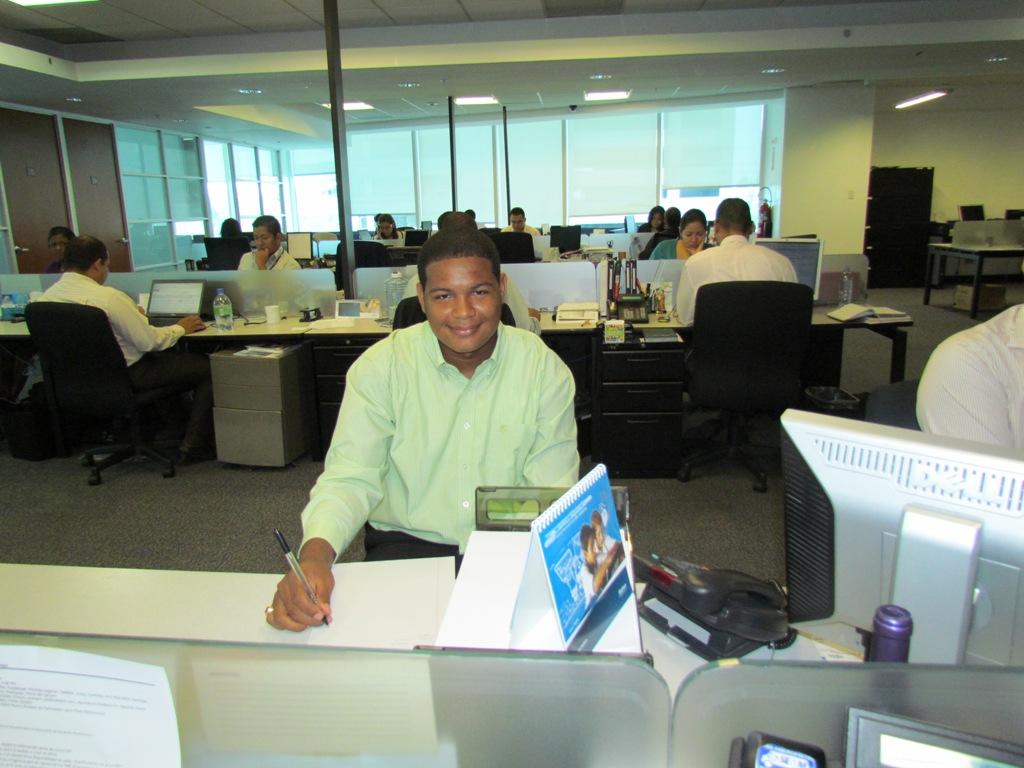Jeremías en su puesto de trabajo