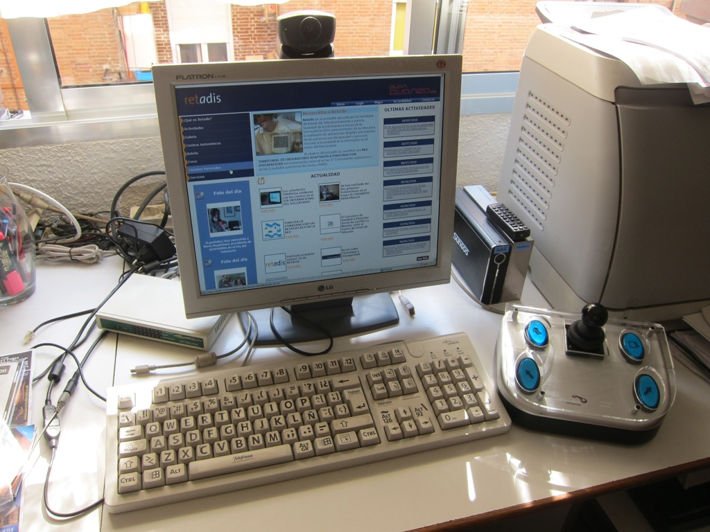 El programa Retadis de Fundación Telefónica acerca las TIC a las personas con discapacidad, dotándolas de equipamiento tanto en sus hogares como en los telecentros. 50 personas participaron en 2011 en el proyecto en Aragón.