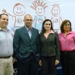 De izquierda a derecha, Gerardo Castellón, gerente de Mercadeo del Nuevo Diario; Carlos Gazol, gerente de Eventos   de Movistar; Catalina Chávez, experta de Responsabilidad Corporativa; Sonia Sevilla, representante de la OIT-IPEC.