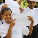 """Bajo el lema """"+ Niños estudiando – Niños trabajando"""", los alumnos fueron guiados por diversos recreadores quienes los motivaron a participar en agradables actividades recreacionales y deportivas."""