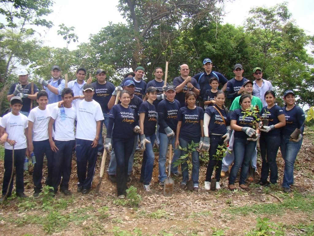 Los Voluntarios Telefónica participaron en la jornada como parte de su compromiso social.
