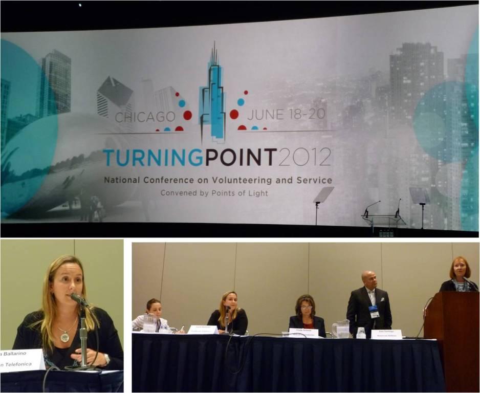 Fundación Telefónica participó en la edición 2012 de la Conferencia Americana de Voluntariado y Servicio, celebrada en Chicago.