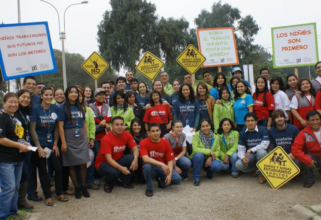 Más de 400 Voluntarios Telefónica le dicen ¡NO! al trabajo infantil