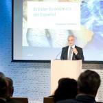 Javier Nadal, vicepresidente ejecutivo de Fundación Telefónica, durante la presentación de las conclusiones de El Valor Económico del Español.