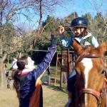 Los Voluntarios Telefónica de Argentina colaboran en un programa de rehabilitación ecuestre de niños y niñas con capacidades diferentes