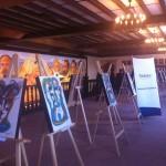 """Al terminar el evento, los asistentes recorrieron la exposición """"Derechos de los Niños"""" del artista plástico Juan Sebastián y patrimonio de Fundación Telefónica, misma que estará abierta al público en el Palacio de Gobierno del Estado de México del 12 al 22 de junio."""