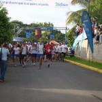 El recorrido de cinco kilómetros salió a las 6:15 de la mañana con mucha energía por parte de los participantes