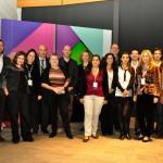 Participantes en el Encuentro y miembros del equipo de Fundación Telefónica durante el evento presencial celebrado en Buenos Aires.