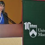 Ana Mancera, gerente de Inversión Social de Fundación Telefónica Venezuela, durante las palabras de apertura del evento.