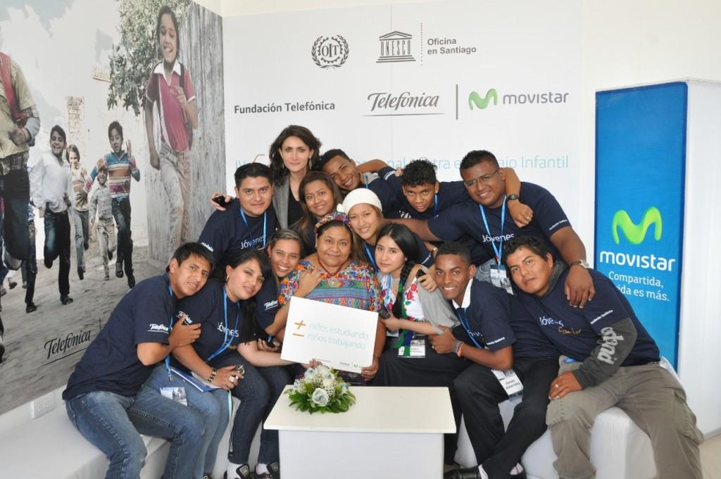 Los jóvenes reporteros entrevistaron a Rigoberta Menchú, Premio Nobel de la Paz.