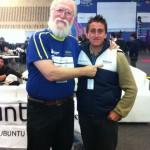 Andrés Bonilla con Jon