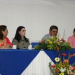 En la foto aparecen, de izquierda a derecha: Sonia Sevulla de la OIT, Catalina Chávez, experta en Responsabilidad Corporativa de Telefónica Movistar; Guillermo López, director de Educación Primaria del Ministerio de Educación y Mónica Genet, directora de Tecnología Educativa.