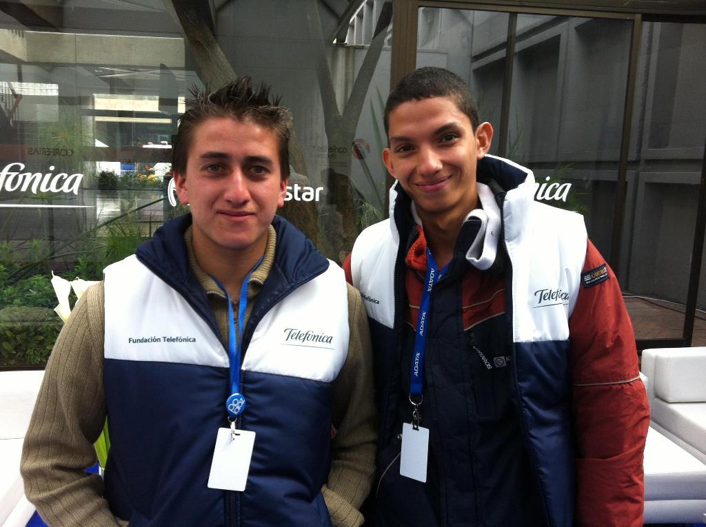 Andrés Bonilla y Wilmer Paternina son miembros de nuestra Red Internacional de Jóvenes Fundación Telefónica en Colombia y representaron a sus compañeros  en el encuentro que se llevó a cabo del 25 de junio al 1 de julio en Bogotá.