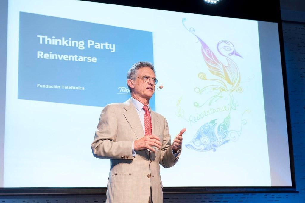 Luis Rojas Marcos durante su intervención en Thinking Party.