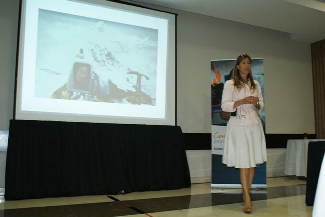 Este primer encuentro reunió a 50 figuras educativas, a quienes se les ofreció una plática motivacional a cargo   de la alpinista Karla Wheelock, la primera mujer latinoamericana en escalar el Everest.