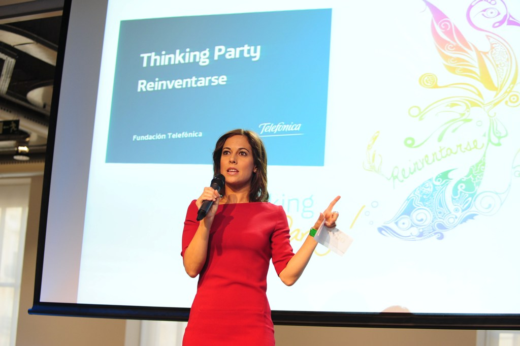 La presentadora Mara Torres ha sido la encargada de conducir la Thinking Party 2012.