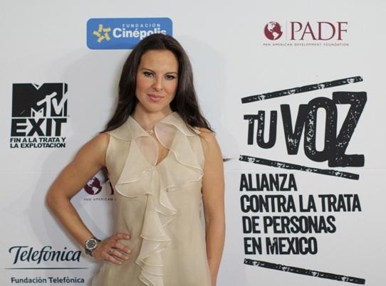 La actriz mexicana Kate del Castillo participa activamente en esta campaña.