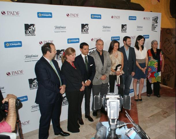 Representantes de todas las entidades involucradas en el proyecto durante su presentación en México D.F.