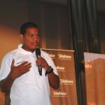 El joven Jeremías Melo durante su intervención.
