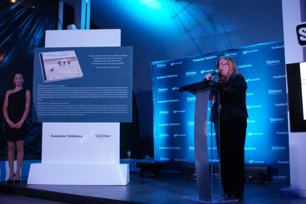 Giovanna Bruni, directora de Fundación Telefónica México, durante su intervención.