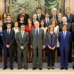 S.M. el Rey Don Juan Carlos recibió a la junta directiva de PHotoEspaña, de la que forma parte Fundación Telefónica.