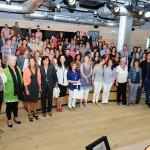Foto de familia de los participantes en el encuentro celebrado en el Espacio Fundación Telefónica de Madrid