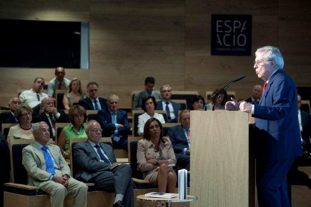 Javier Rupérez durante su intervención en la presentación de