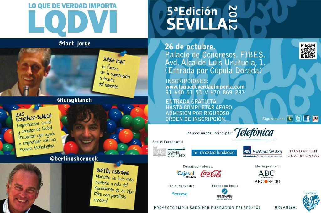 """El Congreso """"Lo Que De Verdad Importa"""" celebra su quinta aniversario en Sevilla"""