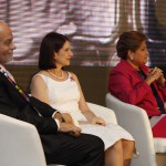 De izquierda a derecha, Javier Nadal, vicepresidente ejecutivo de Fundación Telefónica; Marta Linares de Martinelli, Primera Dama de Panamá y presidenta del Comité para la Erradicación del trabajo infantil y protección del adolescente trabajador (CETIPPAT); Alma Cortés, ministra de Trabajo de Panamá.
