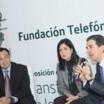 De izquierda a derecha: Douglas Ochoa, vicepresidente de Comunicaciones, Fundación y Relaciones Institucionales de Venezuela; Valentina Ríos, gerente general de Fundación Telefónica Venezuela y Francisco Serrano, director general de Fundación Telefónica.