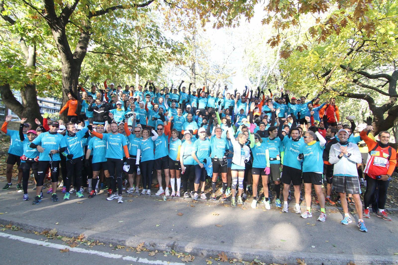 El domingo, día previsto para el maratón, se organizó una carrera de 2 vueltas (unos 20 kilómetros) por Central Park, con todos los integrantes del equipo Amigos de Proniño.