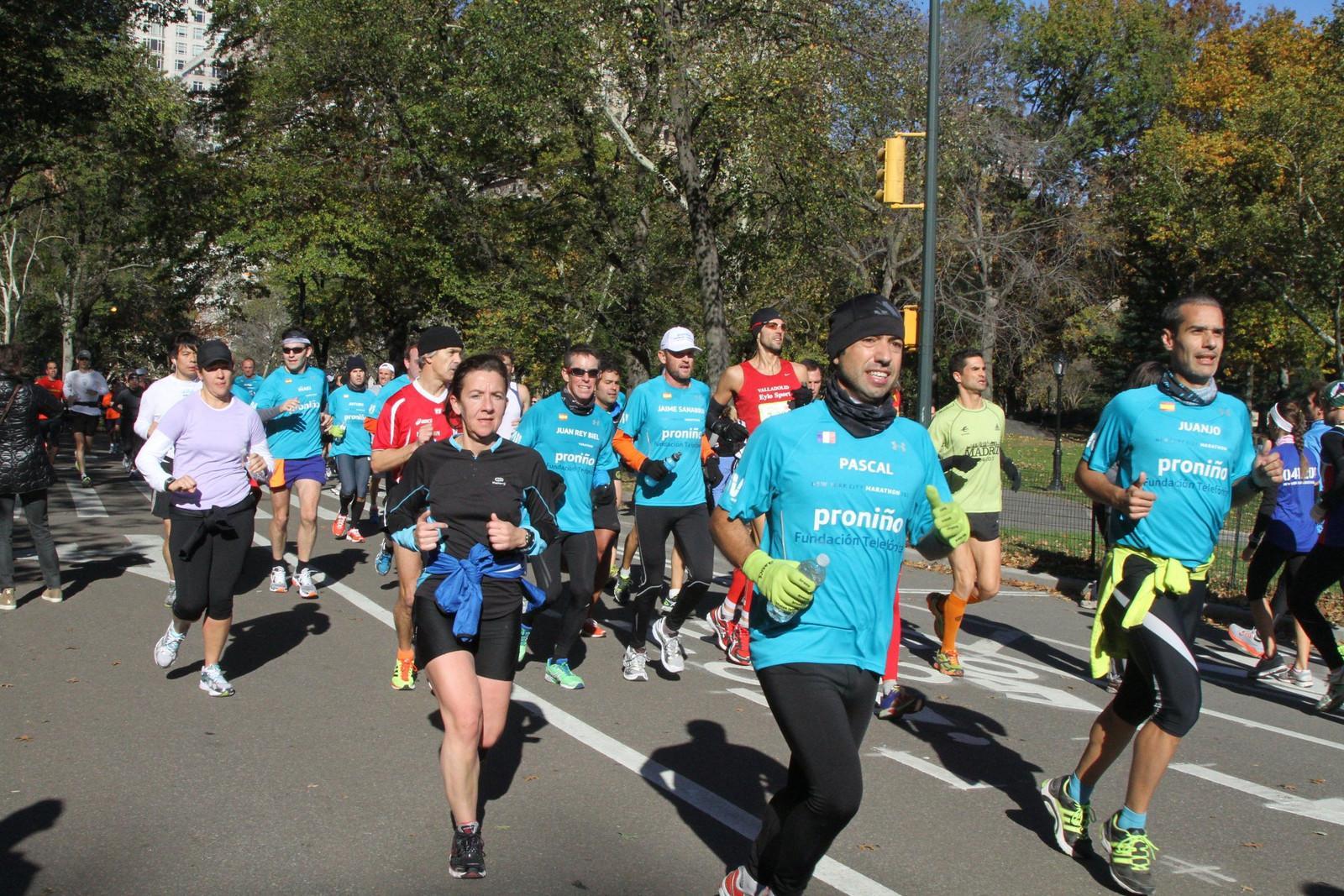 Central Park acogió el pequeño Maratón de Nueva York de los Amigos de Proniño.