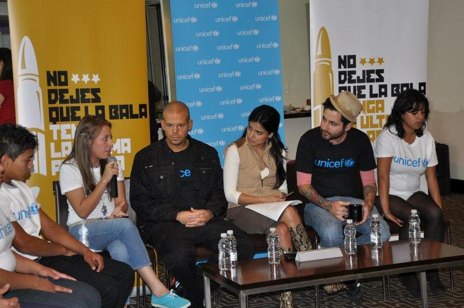 Cuatro de los jóvenes de Fundación Telefónica en El Salvador formaron parte de esta iniciativa y conversaron con los músicos puertorriqueños.