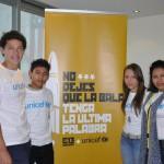 De izquierda a derecha: Angel Pineda, Reymundo Rubén Flores, Andrea Alfaro y Vanesa Espinoza.