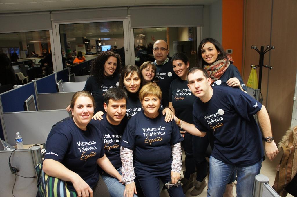 Más de 300 Voluntarios Telefónica quisieron aportar su granito de arena en la pasada gala Inocente Inocente.