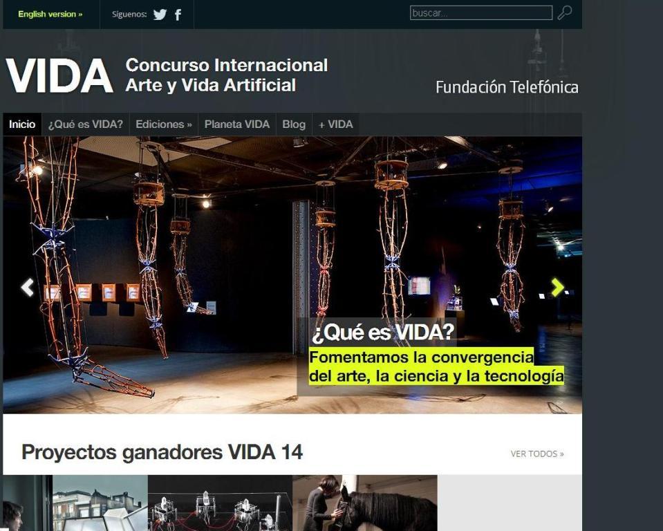 Concurso Internacional Arte y Vida Artificial.