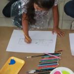 Los beneficiarios de Fundación Telefónica disfrutaron en un taller de creatividad y pintura, previo a la elaboración de las obras concursantes.