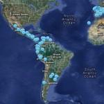 Escuelas Amigas está presente en trece países, que aparecen reflejadas en este mapa.