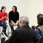 La rueda de prensa de presentación de Fundación Telefónica Documenta, celebrada en el Espacio Fundación Telefónica, ha contado con la presencia de Marcela Cárdenas, coordinadora del proyecto, y el cineasta Isaki Lacuesta, presidente del jurado.