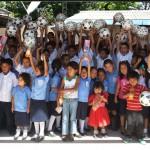 Los niños y niñas de Shucititan (El Salvador) ya tienen su escuela reparada gracias a Voluntarios Telefónica.