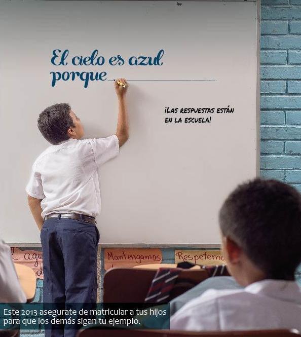 Fundación Telefónica y el Foro Educativo Eduquemos promueven en Nicaragua una campaña para que todos los niños y niñas asistan al colegio.