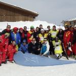 La iniciativa se desarrolló en la estación de esquí de Sierra Nevada, y contó con un total de 12 participantes, entre personas con discapacidad y Voluntarios Telefónica.