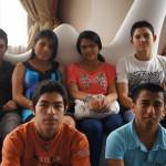 Algunos de los jóvenes participantes en el proyecto.