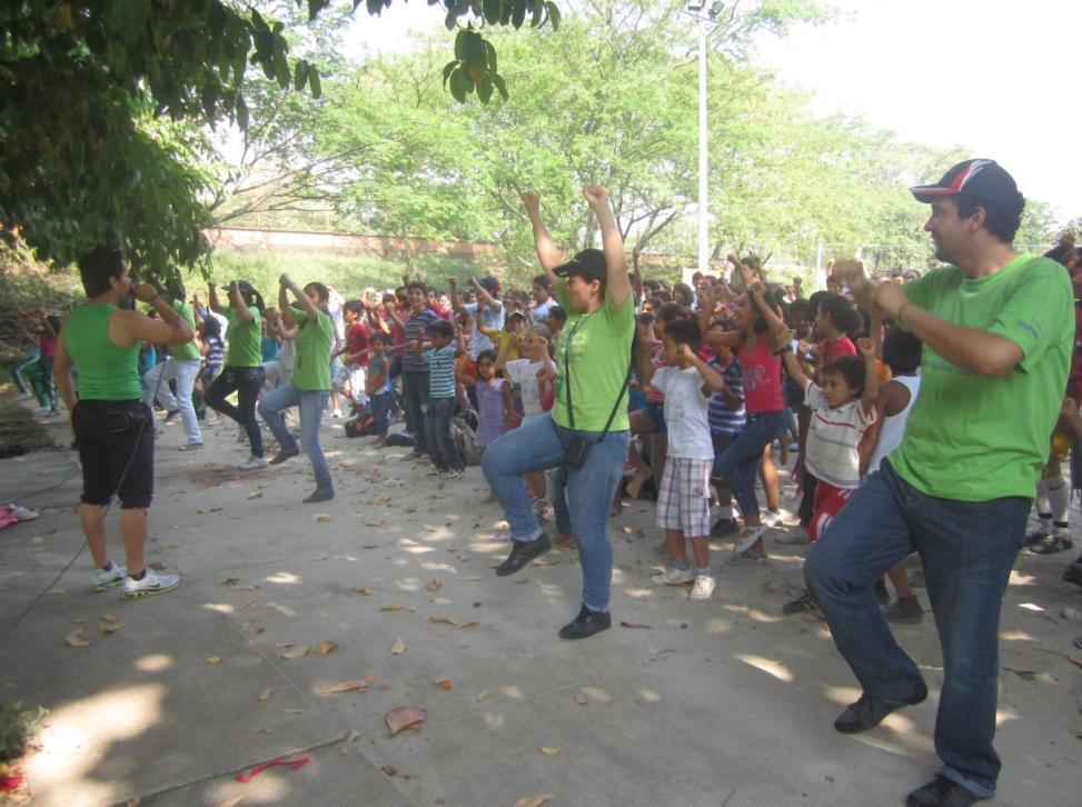 La cita fue en el Parque La Rebeca, un espacio dotado de diferentes espacios aptos para desarrollar las actividades planeadas.